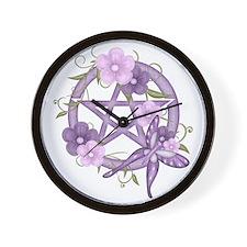 Unique Pentacle Wall Clock
