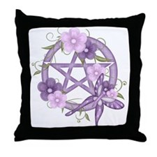 Cute Wiccan Throw Pillow
