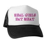 Real Girls Eat Meat Trucker Hat