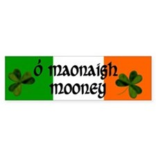 Mooney in Irish & English Bumper Bumper Sticker