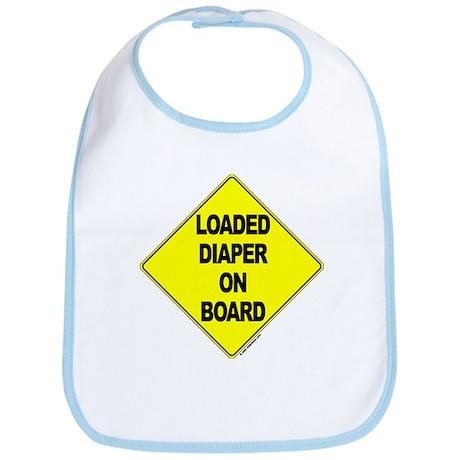 Loaded Diaper on Board - Bib