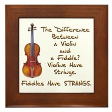 Funny Fiddle or Violin Framed Tile