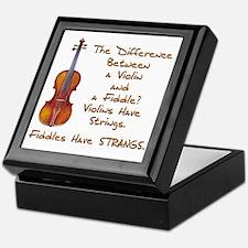 Funny Fiddle or Violin Keepsake Box