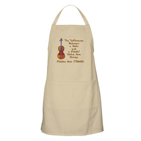 Funny Fiddle or Violin BBQ Apron
