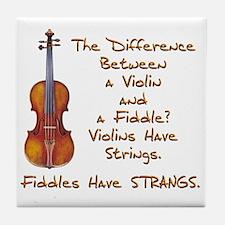Funny Fiddle or Violin Tile Coaster