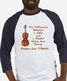 Funny Fiddle or Violin Baseball Jersey