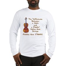 Funny Fiddle or Violin Long Sleeve T-Shirt