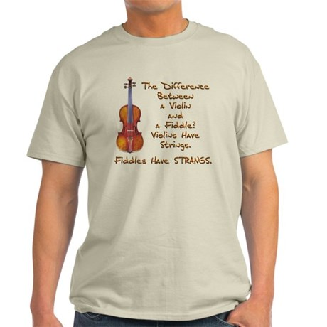 Funny Fiddle or Violin Light T-Shirt