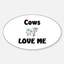 Cows Love Me Oval Decal