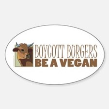 Boycott Burgers - Vegan Oval Decal