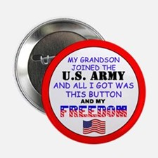 My Grandson Joined the Army Button