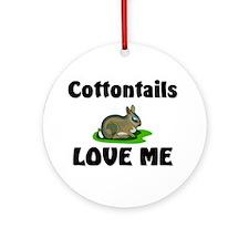 Cottontails Love Me Ornament (Round)