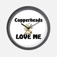 Copperheads Love Me Wall Clock