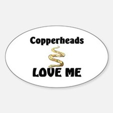 Copperheads Love Me Oval Decal