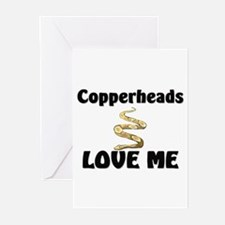 Copperheads Love Me Greeting Cards (Pk of 10)