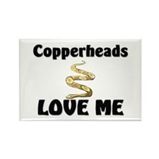 Copperheads Love Me Rectangle Magnet