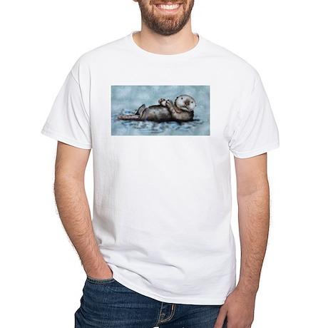 Sea Otter White T-Shirt