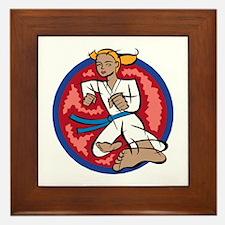 Karate kick! Framed Tile