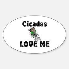 Cicadas Love Me Oval Decal