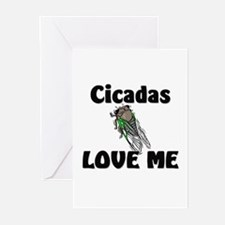 Cicadas Love Me Greeting Cards (Pk of 10)