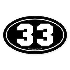 #33 Euro Bumper Oval Sticker -Black