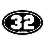 #32 Euro Bumper Oval Sticker -Black