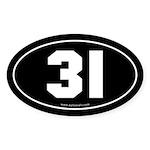 #31 Euro Bumper Oval Sticker -Black