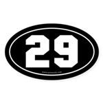 #29 Euro Bumper Oval Sticker -Black