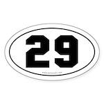 #29 Euro Bumper Oval Sticker -White
