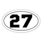 #27 Euro Bumper Oval Sticker -White