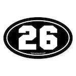 #26 Euro Bumper Oval Sticker -Black