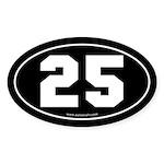 #25 Euro Bumper Oval Sticker -Black