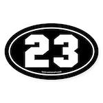 #23 Euro Bumper Oval Sticker -Black