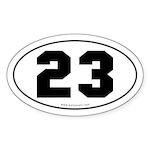 #23 Euro Bumper Oval Sticker -White