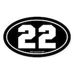 #22 Euro Bumper Oval Sticker -Black