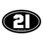 #21 Euro Bumper Oval Sticker -Black