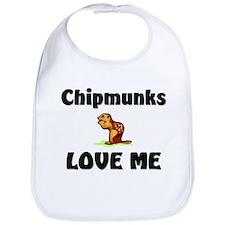 Chipmunks Love Me Bib