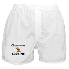 Chipmunks Love Me Boxer Shorts