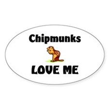 Chipmunks Love Me Oval Decal