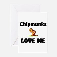 Chipmunks Love Me Greeting Cards (Pk of 10)