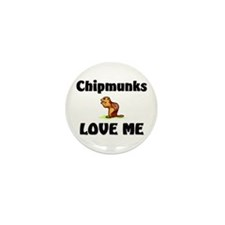 Chipmunks Love Me Mini Button (10 pack)