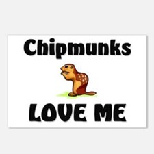 Chipmunks Love Me Postcards (Package of 8)