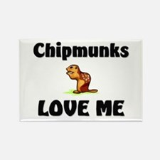 Chipmunks Love Me Rectangle Magnet