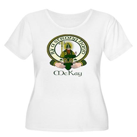 McKay Clan Motto Women's Plus Size Scoop Neck T-Sh