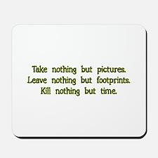 Pictures, Footprints Mousepad