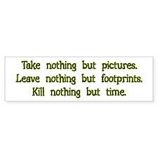 Pictures, Footprints Bumper Car Car Sticker