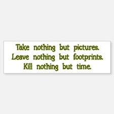 Pictures, Footprints Bumper Car Car Sticker