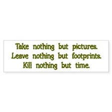 Pictures, Footprints Bumper Car Sticker