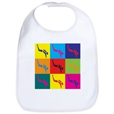 Scuba Diving Pop Art Bib