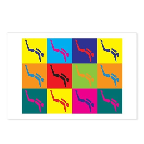 Scuba Diving Pop Art Postcards (Package of 8)